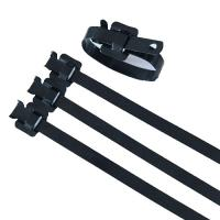 China Security Large Black Zip Ties , Heavy Duty Reusable Cable Ties Antirust on sale