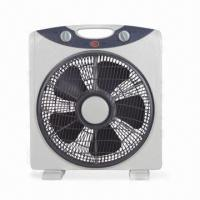 China 12 Inches Electric Box Fan with 3 Speed Functions and 60 Minutes Timer on sale