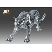 Quality Polyresin Animal Figurines Glass Tiger Statue for sale