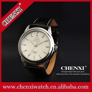 China 2015 Fashion Quartz Wristwatches Man Stainless Steel Caseback Original Japan Movt Quartz Watch Genuine Leather Watch on sale