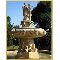 Quality Stone Fountain Carved Marble Water Fountain for Garden Outdoor (YKOF-31) for sale