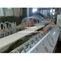 Quality 55 / 110 Plastic PVC Wall Panel Profile Making Machine Twin Screw Extruder for sale
