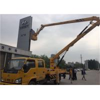 China Yellow Truck Mounted Boom Lift , Truck Mounted Aerial Platform 12V / 24V Voltage on sale
