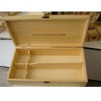 China wooden wine boxes for 2 bottles packaging, Solid Pine wood, hinged and clasp on sale