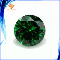 China European machine cut High quality 5A Emerald color synthetic cubic zirconia gems on sale