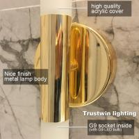 Quality Modern metal tube pipe up down LED wall lamp light sconce Bedroom foyer washroom living room toilet wall ight (WH-OR-09) for sale
