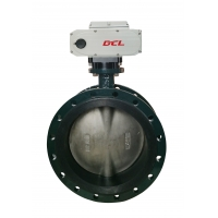 Quality Under DN600 140W Waterproof Motorized Butterfly Valve for sale