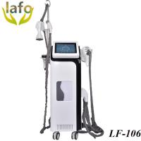 Quality 4 vacuum roller treatment handles, RF+ cavitation + infrared + vacuum roller slimming system for sale