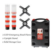 Quality Emergency Road Flares Red Roadside Beacon Safety Strobe Light Warning Signal Alert Magnetic Base and Upright Stand for sale