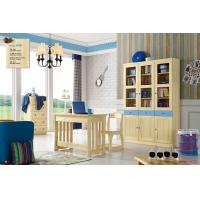 Quality children study room pine solid wood furniture for sale