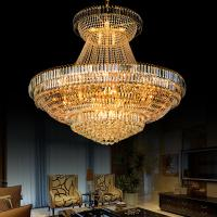 Quality Large metal crystal chandelier for Hotel Home Project DIY Pendant lamp (WH-NC-10) for sale