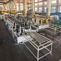 Quality 50-600 Perforated Cable Tray Roll Forming Machine Production Line Auto Size Adjusting for sale