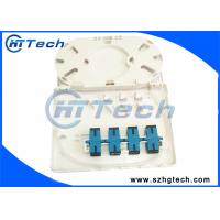 Quality Plastic shell SC 4 Core Fiber Optic Termination Box,  SC/LC/FC Port Fiber Optic Faceplate for sale