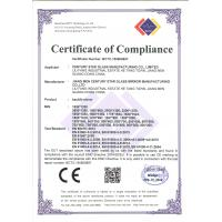 Century Star Glass Mirror Manufacturing Co.,Ltd Certifications