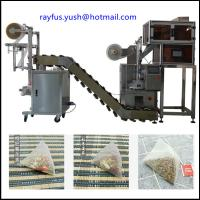 Quality Pyramid Triangle Bag Automatic Plastic Pouch Packing Machine With Thread Tag In Outer for sale