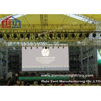 Quality Outside Concert Stage Light Truss , Spigot Arc Stage Lighting Frame Solid Structure for sale