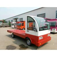 Quality Battery operated platform truck 3Ton Loading Capacity with guardrail for sale