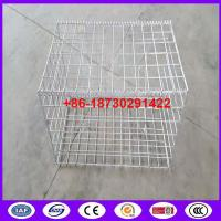 Quality Hot Dipped Galvanized Welded Mesh Gabion For Retaining Wall to construct a rip rap extending from a concrete port for sale