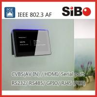 China Meeting Room Booking 7 Inch Android POE Touch Panel With RGB LED Light on sale