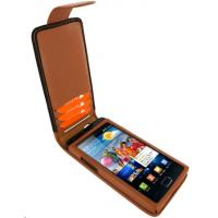 China Black PU Leather Samsung Galaxy Phone Protective Cases Cover SII i9100 on sale