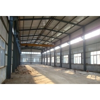 Quality Warehouse Garage Sunlight Tile Steel Frame Construction With 5 Ton Crane for sale