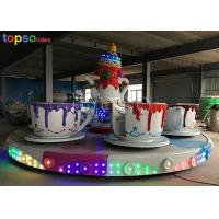 Quality Indoor Rotary Coffee Cup Ride Steel  Teacup Amusement Ride 24p 4 R/Min for sale