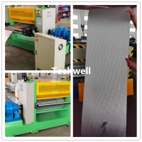 Quality 0.15mm X 800mm Stainless Steel Sheet Metal Plate Embossing Machine Line for sale