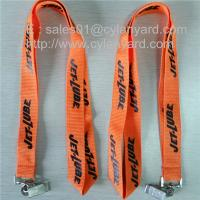 China Metal bulldog clip polyester lanyards, imprint polyester lanyard with metal card clip, on sale