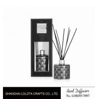Buy applique pattern clear bottle reed diffuser with exposure folding box at wholesale prices