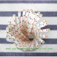 Buy Five Pointed Star Pattern Colored Paper Straws For Cold Drink , Eco Friendly at wholesale prices