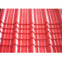 Quality Galvanised Corrugated Roofing Sheets , Red Pre Painted Corrugated Steel Sheet for sale
