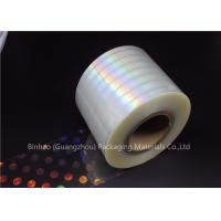 Quality Anti Fake BOPP Holographic Laser Flexible Packaging Film Multiple Extrusion Thickness for sale