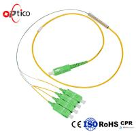 Quality PLC Fiber Optic Splitter Cable Bare Fiber Type 1X4 PLC Mini Metal FTTH Passive for sale