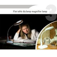 China Multi-purpose magnifier led Magnifying loupe Glasses Desk Table Reading Lamp Light KS-1081T flat or clamp on the table m on sale