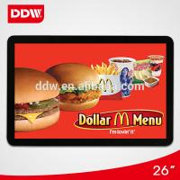 Quality 26 inch wall mount lcd advertising player for sale