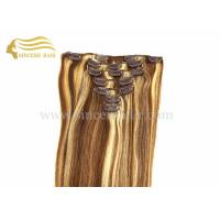 Quality Hot Sale 20 Clip In Hair Extensions for sale - 50 CM 100 G 7 Pieces Piano Colour Remy Hair Clips-In Extensions for Sale for sale