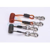 Buy Double Colors Coil Tool Lanyard 5.0 * 50MM Safety With Zinc Alloy Swivel Snap Hooks at wholesale prices