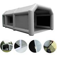 China Gray inflatable spray booth 6x4x3m portable car washing tent free air blower inflatable spray paint booth tent on sale