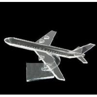 Quality Crystal Airplane Model, Crystal Modle(JD-MX-008) for sale