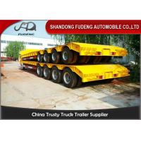 China 150 - 200 Ton Heavy Duty Lowboy TrailerFor Construction Machines 4 Lines 8 Axles on sale