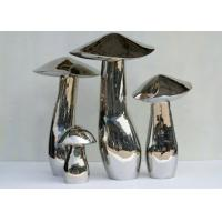 Quality Home Art Decoration Mushroom Garden Sculptures Stainless Steel Anti Corrosion for sale