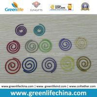 Quality Colorful Round Spiral Shape Fashionable Paper Clips Round Cord and Flat Cord Both Available for sale
