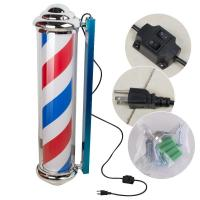 Quality Salon Sign Rotating Barber Pole For New Barbershop Metal Wall Mount Tools Install for sale