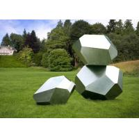 Buy Stainless Steel Garden Sculptures Sandblasting Square Decoration at wholesale prices