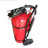 Quality 30 KG DCP Fire Extinguisher , Powder Coating Red Fire Extinguisher Trolley Units for sale
