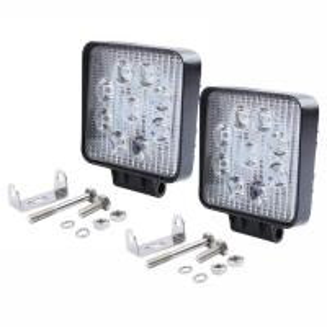 "Quality 27W Square LED Work Light 3W High Power Epistar LEDs Off-road Flood beam 10-30V 4.3"" Slim profile for sale"