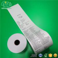 Quality Plastic Core BPA Free Thermal Paper Rolls 80 X 80mm Long Image Life Smooth Surface for sale
