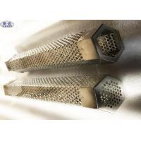 China Smoker Perforated Metal Mesh Tube Stainless Steel Hexagonal Anti - Acid on sale