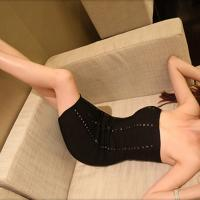 Quality Delicate tailoring extreme sexy black sequin short tight party bandage dress for sale