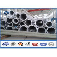 7M ~ 15M Steel Tubular Structures Electric Power Pole Polygonal shppe Low Voltage
